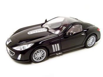 PEUGEOT 907 V12 BLACK 1:18 DIECAST MODEL BBURAGO
