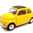 1965 FIAT 500L YELLOW 1:18 DIECAST MODEL