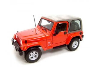 JEEP WRANGLER SAHARA RED 1:18 DIECAST MODEL