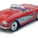 1958 CHEVROLET CORVETTE 1/18 DIECAST MODEL RED