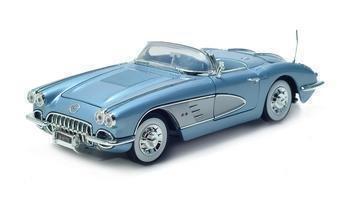 1958 CHEVROLET CORVETTE 1/18 DIECAST MODEL BLUE