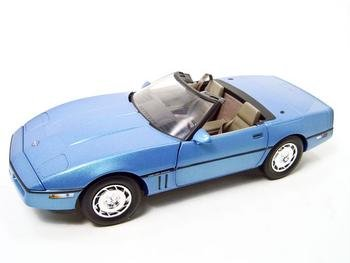 1986 Chevrolet Corvette Blue 1/18 Diecast Model By Greenlight