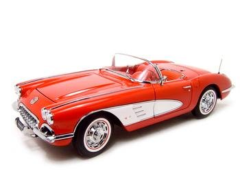 1959 CHEVROLET CORVETTE RED 1:18 AUTO ART DIECAST MODEL