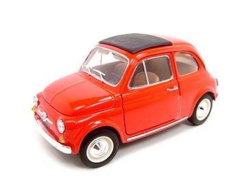 1965 FIAT 500 F RED 1:18 DIECAST MODEL