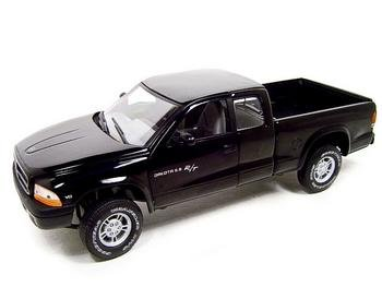 DODGE DAKOTA R/T 4X4 PICKUP BLACK 1:18 DIECAST MODEL