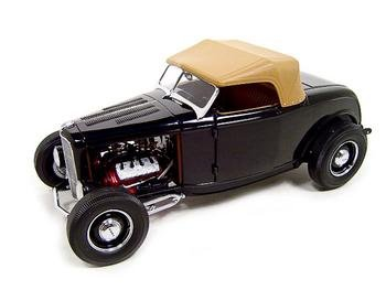 FORD 1932 HIGHBOY HOT ROD COUPE VINTAGE DEUCE GMP 1:18 BLACK