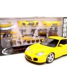 PORSCHE 911 TURBO YELLOW W/PARTS 1:18 DIECAST MODEL