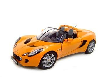 LOTUS ELISE ORANGE 1:18 DIECAST MODEL