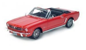 1964 1/2 FORD MUSTANG 1/18 DIECAST MODEL RED