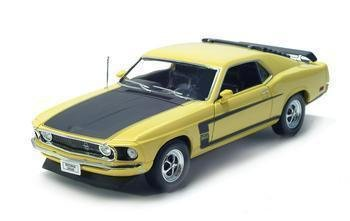 1969 FORD MUSTANG BOSS 302 1/18 DIECAST MODEL YELLOW