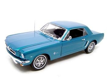 1964 1/2 FORD MUSTANG TURQOUISE 1:18 DIECAST MODEL