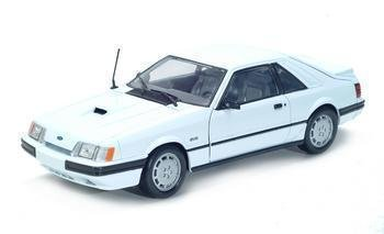 1986 FORD MUSTANG SVO 1/18 DIECAST MODEL WHITE