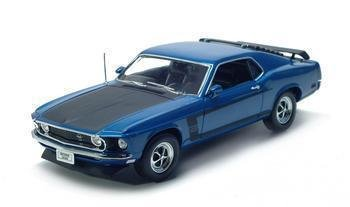 1969 FORD MUSTANG BOSS 302 1/18 DIECAST MODEL BLUE