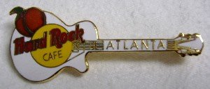 HARD ROCK CAFE PIN - ATLANTA, GUITAR w/ GEORGIA PEACH