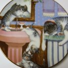 COLLECTORS PLATE - HAMILTON - MISCHIEF MAKERS, 1988 ~~ CATS KITTENS