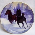 HAMILTON COLLECTORS PLATE - WINTERS THUNDER - HORSE HORSES