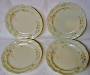 4 PFALTZGRAFF TEA ROSE SALAD PLATES