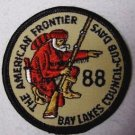 BOY SCOUT EMBROIDERED PATCH - THE AMERICAN FRONTIER - BAY LAKES COUNCIL, 88