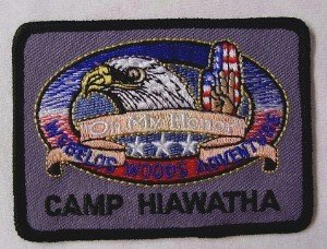 BOY SCOUT EMBROIDERED PATCH - WEBELOS WOODS ADVENTURE - CAMP HIAWATHA