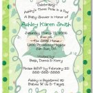 """Three Peas in a Pod"" Triplets Baby Shower Invitations - Personalized"