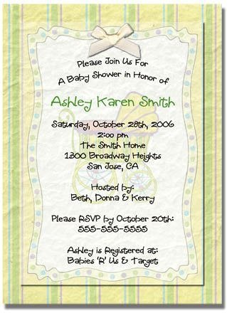 """Baby Carriage"" Baby Shower Invitation - Personalized Invitations"