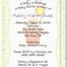 """A Baby is Blooming"" Baby Shower Invitation - Personalized Invitations"
