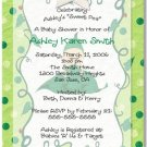 """Sweet Pea"" Baby Shower Invitation - Personalized Invitations"