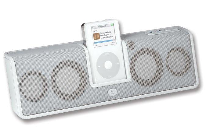 Logitech mm50 Portable Speaker for iPod (White )--Free Shipping
