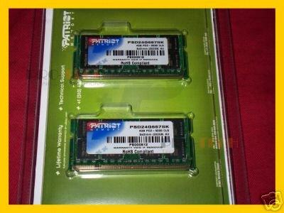 Patriot 4GB (2x 2GB) DDR2 PC2-5300 667MHz  Notebote Memory Kit -- Free Shipping