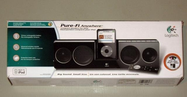 Logitech Pure-Fi Anywhere Compact Portable Speakers for iPod (Black) -- Free Shipping