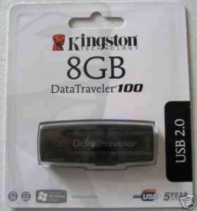 Kingston 8GB DataTraveler 100 USB Flash Drive--Free Shipping