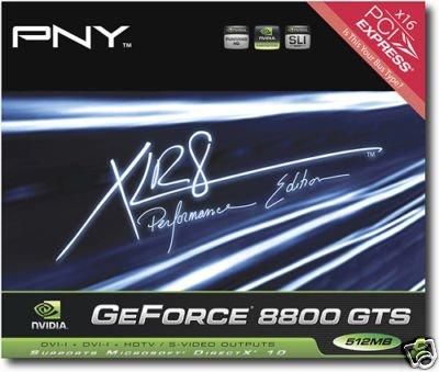 PNY NVIDIA GeForce 8800GTS (G92) 8800 GTS 512MB SLI -- Free Shipping