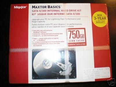 Maxtor 750GB SATA II/ 300 Serial ATA 7200RPM 32MB Cache Retail Package
