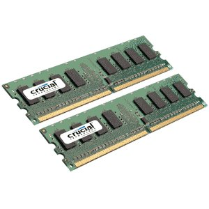 Crucial 2GB (2x1GB) PC2-5300 667MHz Desktop RAM Kit