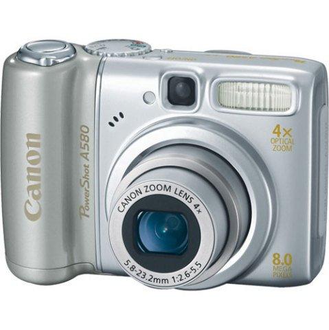 Canon PowerShot A580 Digital Camera 8MP 4x Optical w/ Free 2GB SD Card