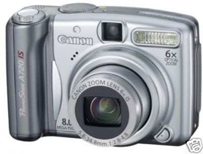 Canon PowerShot A720 IS Digital Camera A720IS 8MP 6x Optical w/ Free 2GB SD