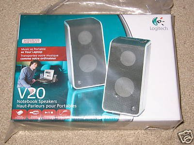 Logitech V20 Portable Notebook / Laptop USB Speakers