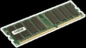 Crucial 1GB PC3200 DDR 400 MHz 184-pin Desktop Memory