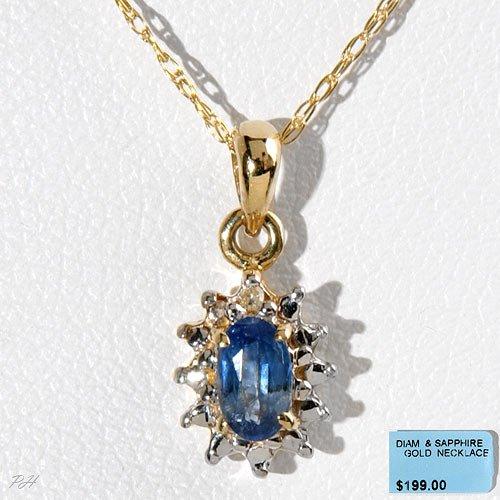 Genuine Ocean Blue Sapphire Necklace