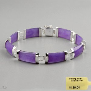 Lavender Jade Bracelet