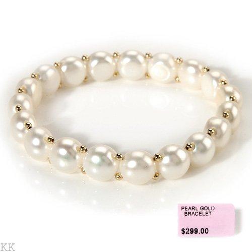 Classic Pearl double strung Bracelet