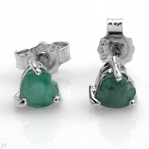 Genuine Heart cut Emerald Studes
