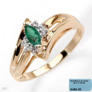 Genuine Emerald Ring Sz 7
