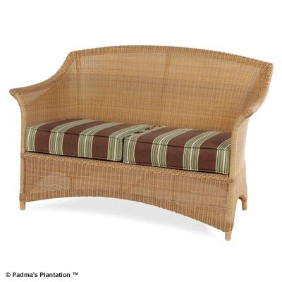 PADMA'S PLANTATION- OUTDOOR RESORT LOVE SEAT-HONEY OR CAFE FINISH
