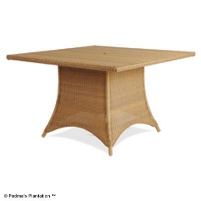 PADMA'S PLANTATION- OUTDOOR RESORT DINING TABLE-SQUARE