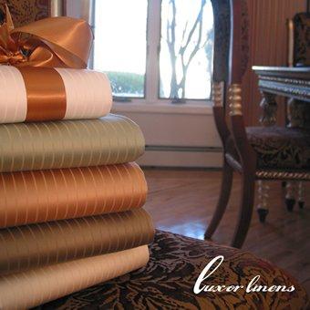 Luxur Linens-Leonardo 1200 Thread Count Stripe Egyptian Cotton Sheets (Size King)