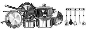 Kinetic- Classicor 17 Pc Stainless Steel Cookware Set