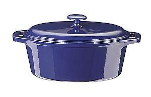 Kinetic- Color Cast 7 Quart Oval Roaster - Blue