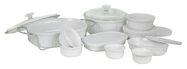 French White- 17-Pc Cookware Set