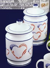 Reco- Cookie Jars Cookie Jar - Large Hearts or Small Hearts